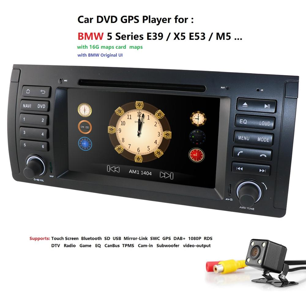 2din car radio dvd gps wince 800X480 Quad core For <font><b>BMW</b></font> <font><b>E39</b></font> E53 M5(1996-2007) with Bluetooth Phonelink BT 1080P DAB+ Map rear CAM image