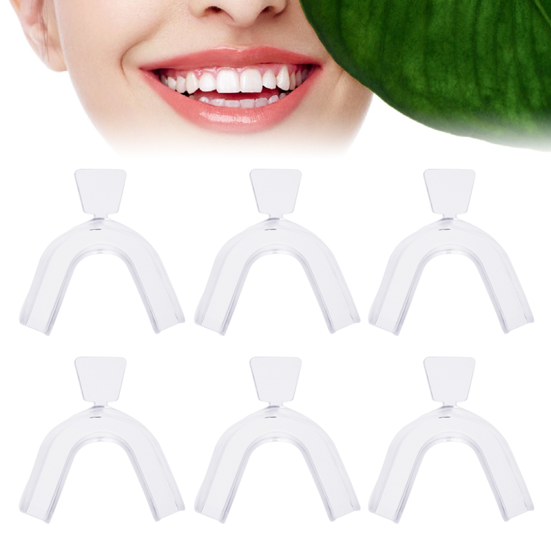 6pcs Moldable Dental Splint Teeth Trays Set Thermoforming Teeth Whitening Tool Home Oral Care Whitening Gel Mouthguard