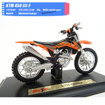 MAISTO 1/18 Scale Classic Motorbike Series KTM 450 SX-F Diecast Metal Motorcycle Model Toy For Gift,Kids,Collection image
