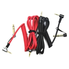 Spring Stereo Audio Cable Cord Replacement for Dr Dre Solo/ Pro/ Mixr/ Headphones/ Studio for Beats Headsets Adapter