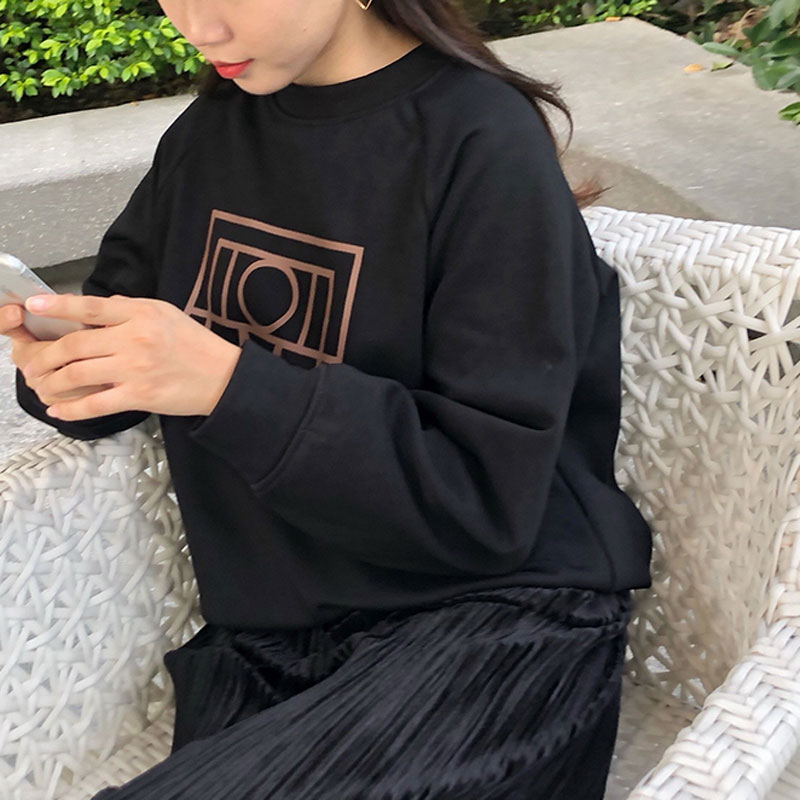 Women Hoodie Fall / Winter 2019 Sweatshirt Pullover Round Neck Loose Women's Sweatshirt