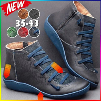 2019 New Women's PU Leather Ankle Boots Women Winter Cross Strappy Vintage Women Punk Boots Flat Ladies Shoes Woman Botas Mujer 2018 vallu new leather shoes women ankle boots round toes buckle zipper handamde vintage flat platform ladies boots