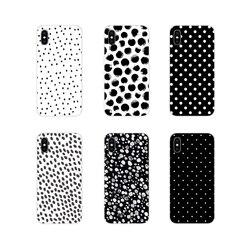 Для Xiaomi Mi4 Mi5 Mi5S Mi6 Mi A1 A2 A3 5X 6X 8 CC 9 T Lite SE Pro черно-белые аксессуары в горошек Чехлы для телефона