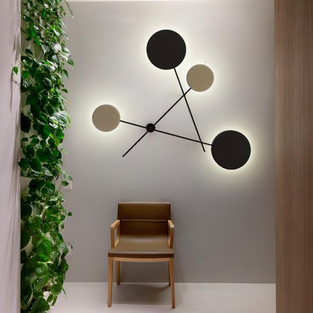 Nordique décoration design couloir hôtel appliques murales déco Maison Lustre Led Applique Murale Led chambre lumière lampara de pared