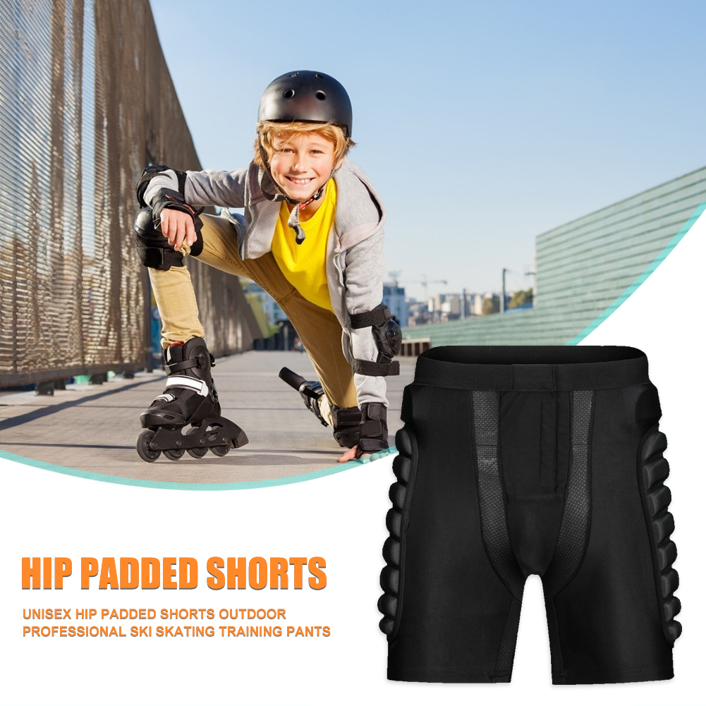 Breathable Outdoor Sports Shorts Skiing Hip Padded Shorts Shock-resistant Shorts Drop Resistance Roller Padded Shorts