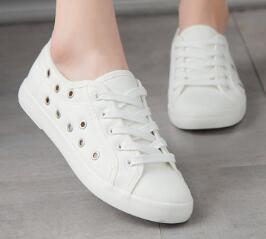 Ladies Canvas Sandals Small White Shoes Breathable Hollow Flat Flat Rubber Shoes ugged women shoes