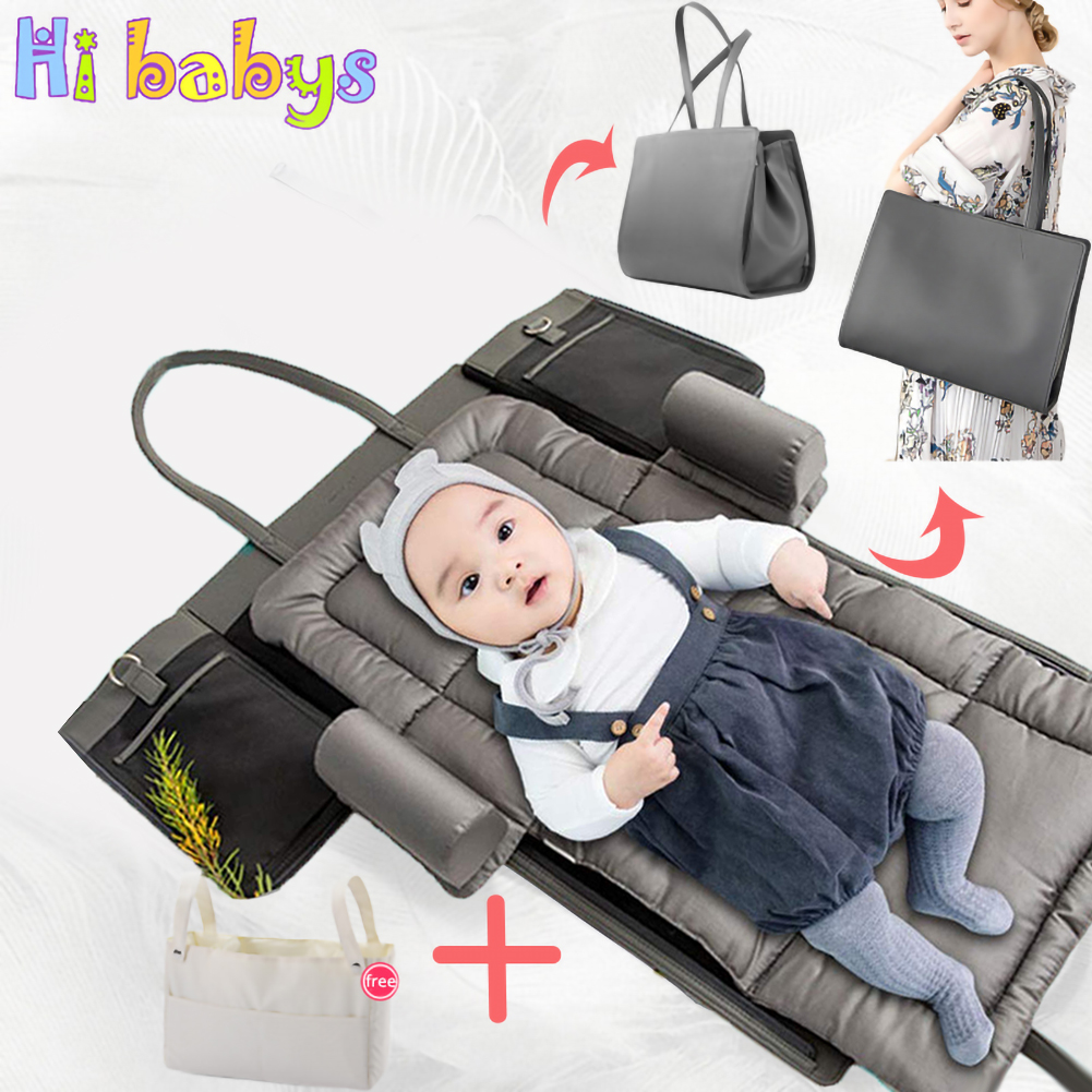 Baby Crib Multi-function Bed Portable Detachable Mummy Bag Removable and Washable Newborn Bed Outdoor Supply Nursery Travel Bed