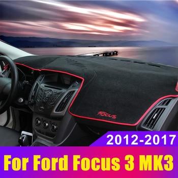 цена на Car Dashboard Covers Mat Avoid Light Pad Sun Shade Carpets Protector LHD For Ford Focus 3 MK3 2012 2013 2014 2015 2016 2017 2018