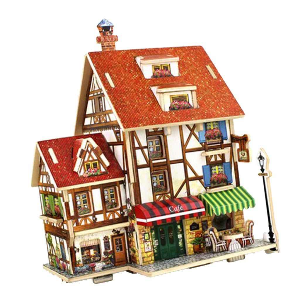 1:24 DIY Dollhouse Villa Kits Hands Craft Creative Model Birthday Gifts