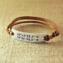 Персонализированный веревочный браслет выполненный на заказ