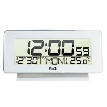 Multi-function LCD Display Digital Alarm Clock Thermometer 12H/24H Time Calendar Snooze Backlight Desktop Clock multi function alarm clock thermometer hygrometer 1 x aa