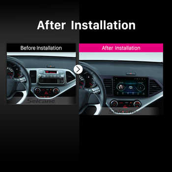 "Seicane Android 8.1 9"" 2Din Car Radio For 2011 2012 2013 2014 KIA PICANTO Morning GPS Navigation Head Unit AUX Wifi 4-Core 1080P"