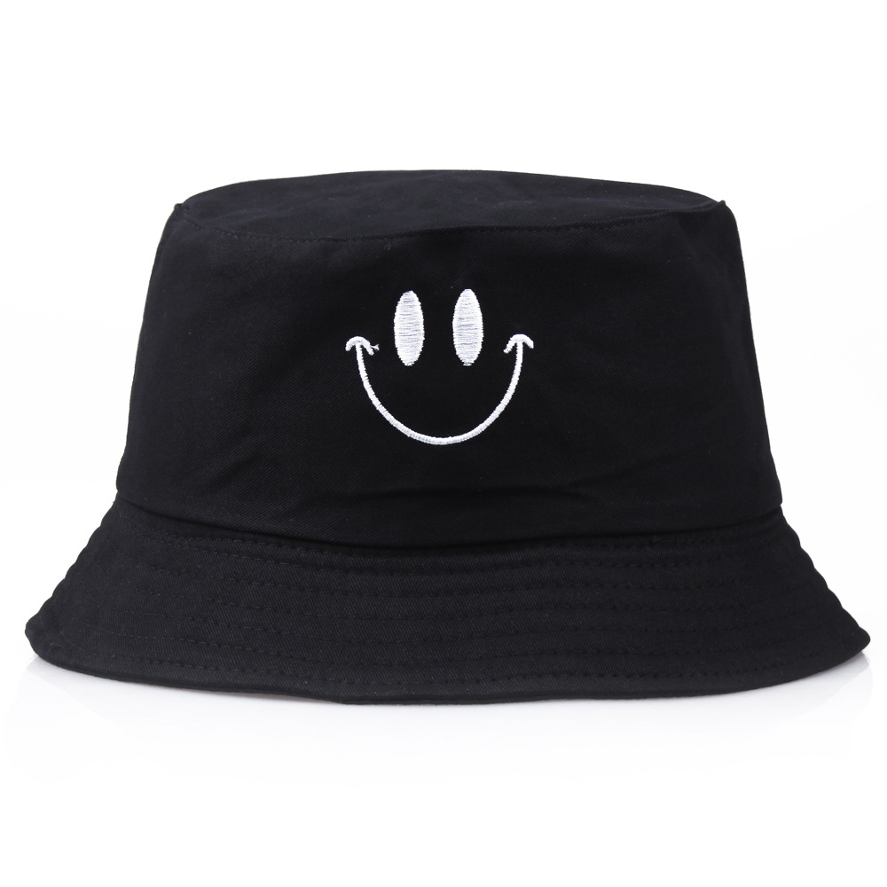 New Style Hat Women's Korean-style Fashion Sun-resistant Topee Cute Spring And Summer Casual Smiley New York Bucket Hat Couples