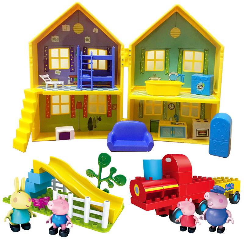 Peppa Pig Deluxe House George Family Pig PVC Action Figures Baby Kid Birthday Christmas Gift Pretend Playset Toy For Children