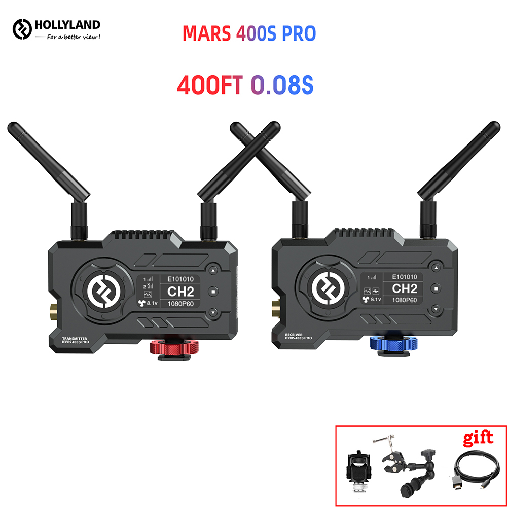 Hollyland MARS 400S PRO FILES Wireless Video Transmission System HD Image Transmitter Receiver SDI 1080P for Photography