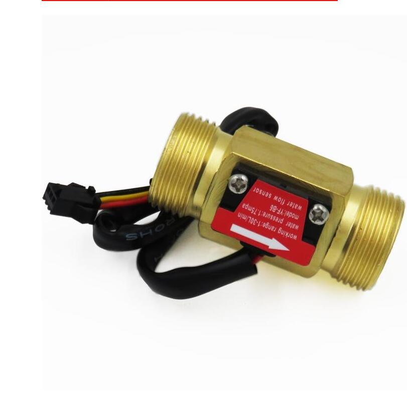 60mm Long G3//4 Male Threaded 1-30L//min Hall Effect Water Flow Sensor Flowmeter