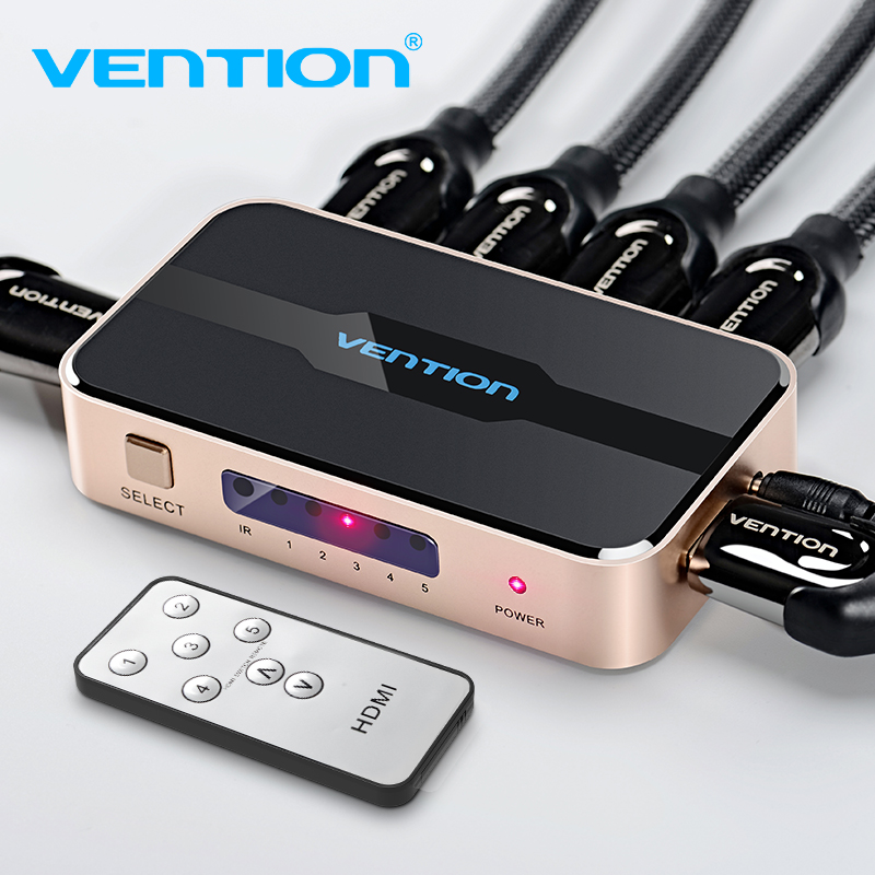 Vention HDMI Splitter 5 Input 1 Output HDMI Switch 5x1 For XBOX 360 PS4 Smart Android HDTV 4K 5 In 1 Out HDMI Switcher Adapter