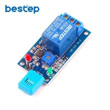 Free shipping 5V Humidity Sensitive Switch Relay Module , Humidity Controller Humidity Sensor Module цена
