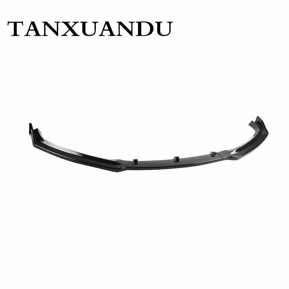 1026 Painted Gloss Black 3-Stage Front Bumper Lip Spoiler Underbody Wing Base Style Fit For AUDI A4 A4 Quattro B9 8W 2017-2019