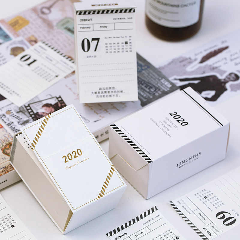 Swell Year 2020 Simple Mini Calendars Week Plan Desktop Paper Beutiful Home Inspiration Truamahrainfo
