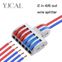 Новый тип, проводной разъем 2 в 4/6, сплиттер для проводов, быстрорежущие конекторы, универсальный компактный проводник, светодиодный проводн...