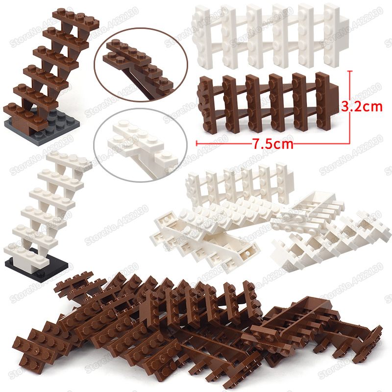 Building Ladder Blocks Accessories Lot City Diy Figures High Base Moc Child Christmas Birthday Gift Toy