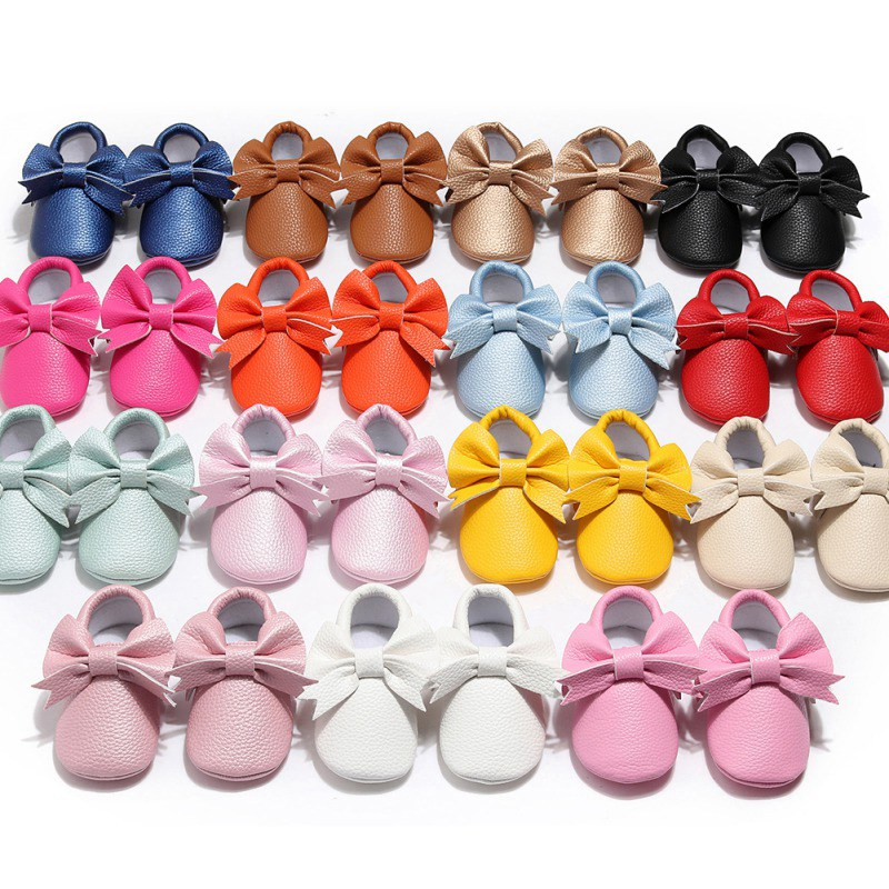 Princess Baby Girl Shoes Cute Solid Color Baby Anti-slip On Shoes 0-2T Toddler Spring Autumn First Walkers