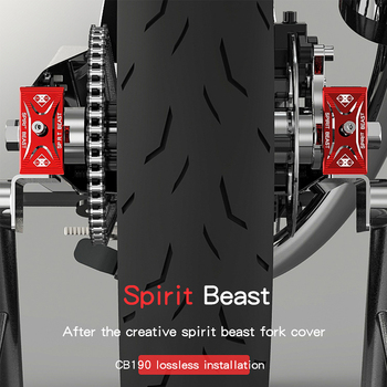 Protector de choque de la cubierta de la horquilla trasera de la motocicleta SPIRIT BEAST para Honda CB190 CBF190R Yamaha YZF R3 Suzuki GW250 GSX250R Kawasaki Z250