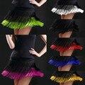 Юбка женская для латиноамериканских танцев, юбка с двойной бахромой для соревнований, для танцев, тренировок и представлений, для взрослых