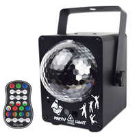 YSH Crystal Magic Ball Laser Projector Sound Activated RGB Colorful Party Lights 60 Patterns Christmas Holiday Decoration Light