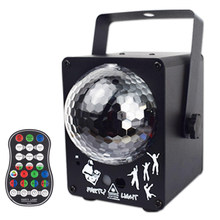 YSH Crystal Magic Ball Laser Projector Sound Activated RGB Colorful Party Lights 60 Patterns Christmas Holiday Decoration Light(China)