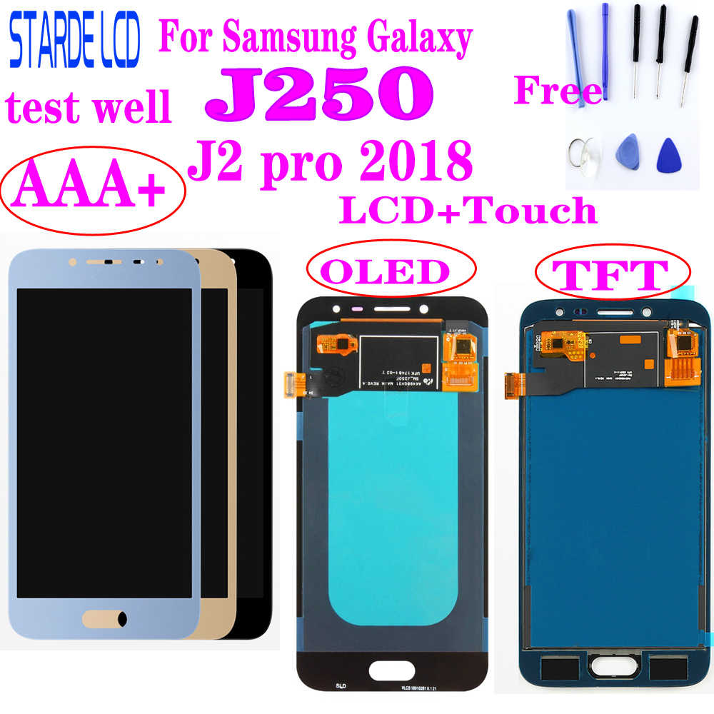 AAA + Amoled LCD Per Samsung Galaxy J2 pro 2018 J250 J250F J250H Display LCD Touch Screen Digitizer Assemblea di Vetro j250 LCD