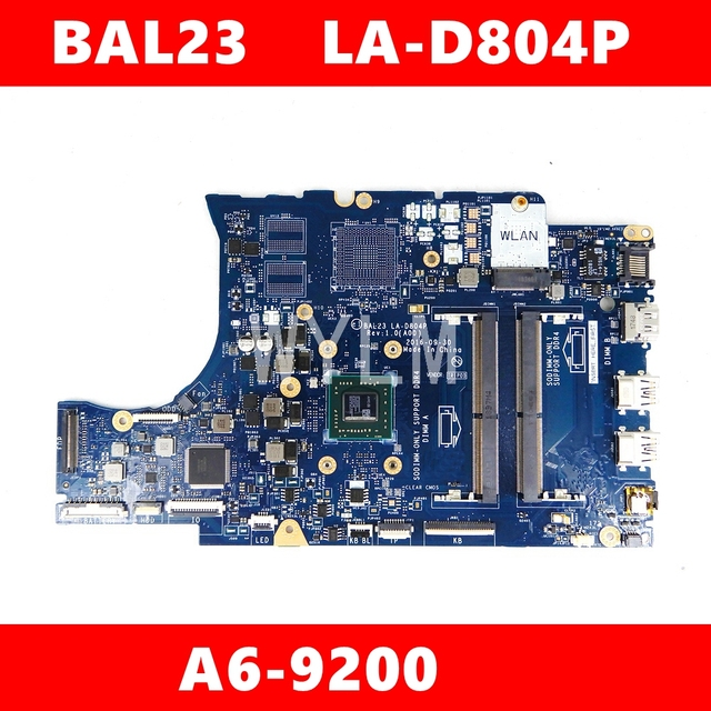BAL23 LA D804P A6 9200 материнская плата для DELL 5565 5765 BAL23 LA D804P материнская плата для ноутбука тест ОК