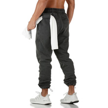 New Running Pants Men Joggers Sweatpants Cotton Sportswear Outdoor Sports Trousers Male Gym Fitness Training Jogging Track Pants цена 2017