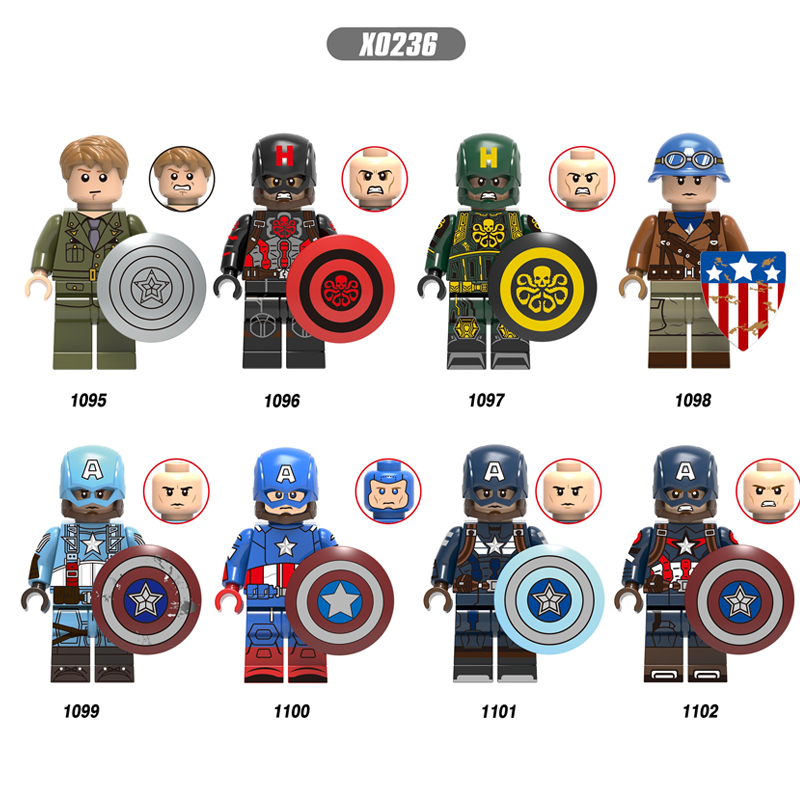 Single Avengers Endgame Odin  Hydra Captain America Peggy Thor Loki Jane Foster Monica Rambeau IronMan Building Blocks Kids Toys
