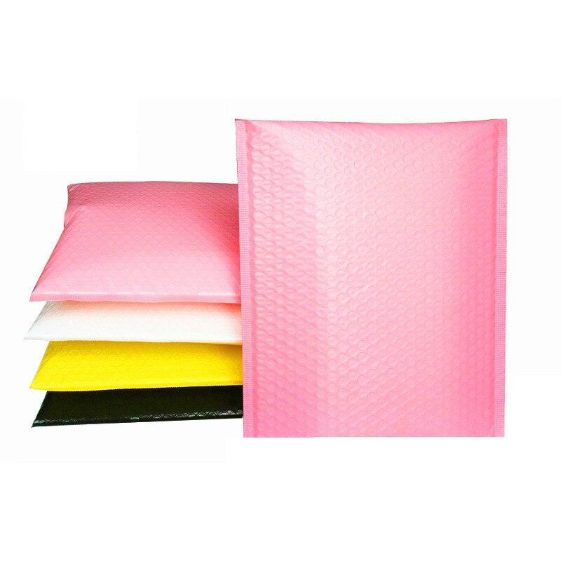 15x20+4cm 25pcs/lot Light Pink  Sealing Bag Mailing Envelopes Padded Bubble Self Mailer