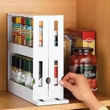 Práctico estante de especias giratorio multifuncional organizador de armario de cocina estante de almacenamiento giratorio, almacenamiento de utensilios de cocina