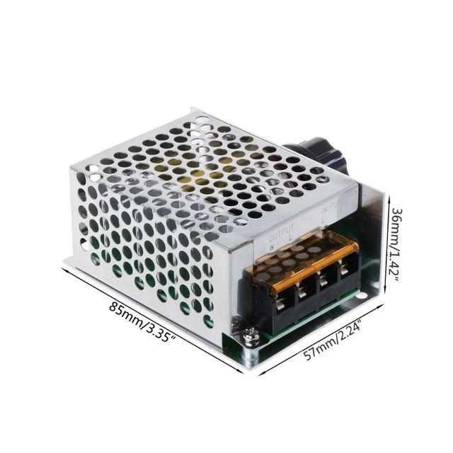 ac 220v 4000w scr регулятор напряжения диммер высокой мощности фотография