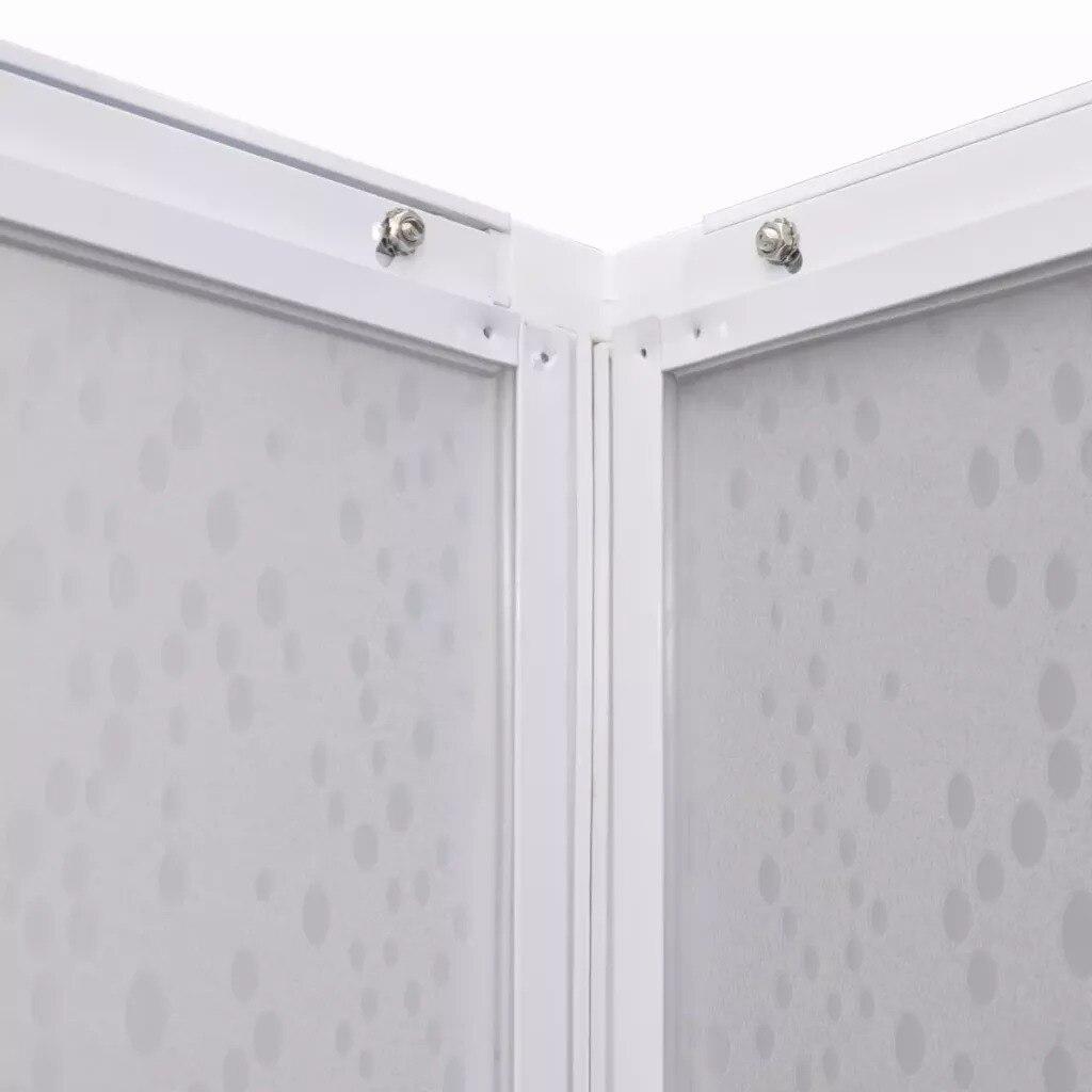 VidaXL paroi pare-baignoire douche 2 panneaux fixes et 2 portes coulissantes pliable cadre aluminium pare-baignoire 80X80 Cm pour salle de bain - 5
