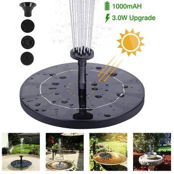 Плавающий фонтан на солнечной батарее, декоративный садовый фонтан с питанием от солнечной панели, водяной насос для внутреннего дворика, лужайки, уличное украшение
