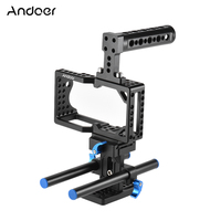 Andoer Video Camera Cage Stabilizer Protector for BMPCC Camera to Mount Microphone Monitor Tripod LED Light Photographic
