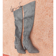 boot platform women zapatos mujer Womens Shoes Overknee 2019 Increase Long boots