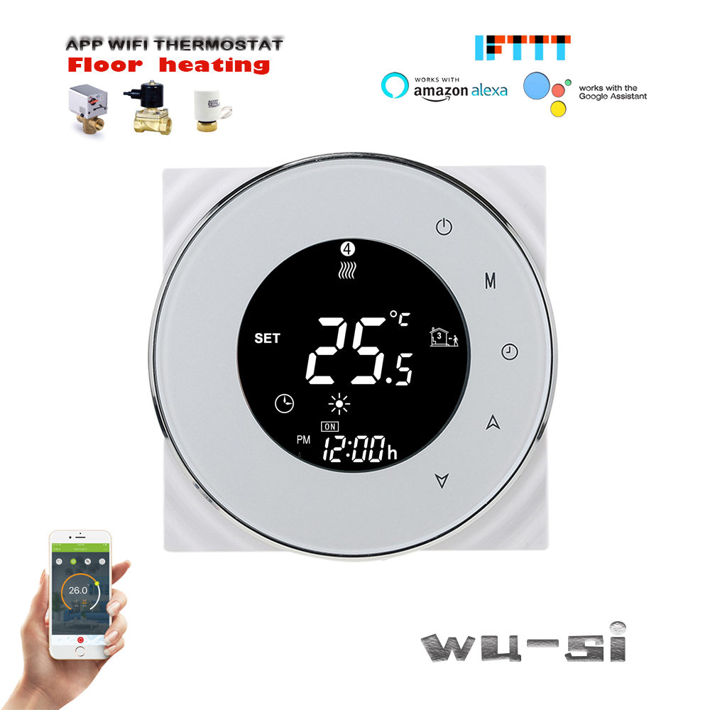 95-240VAC 3A Smart WIFI Thermostat  For Water Floor Heating Controller