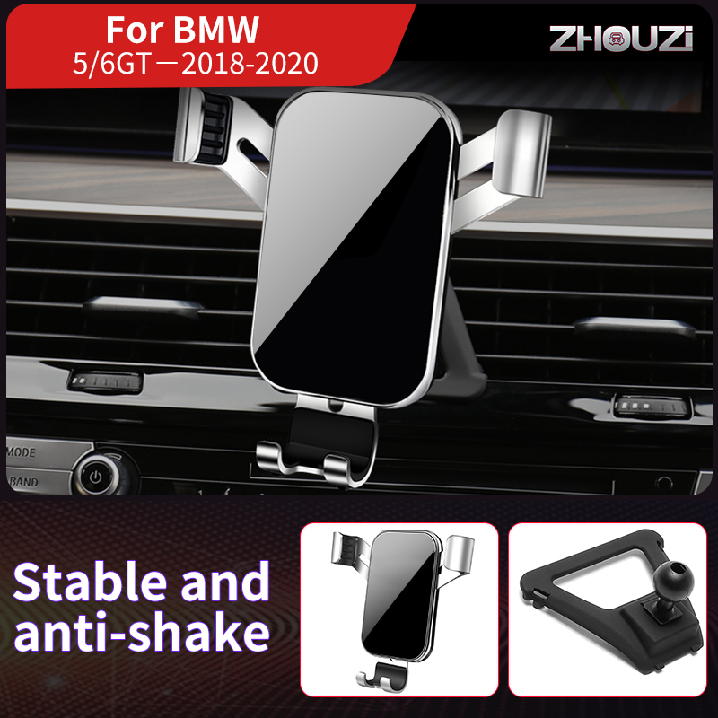 Car Mobile Phone Holder Mounts Stand GPS Gravity Navigation Bracket For BMW 5 Series 6GT G30 G32 G38 2018-2020 Car Accessories