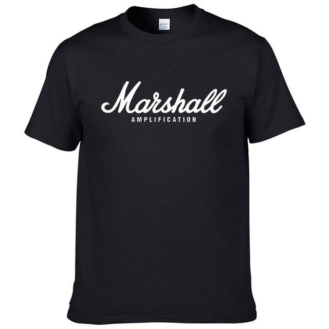 La venta caliente del verano 100% algodón marshall camisa de rua manga curta de hip hop para los angeles