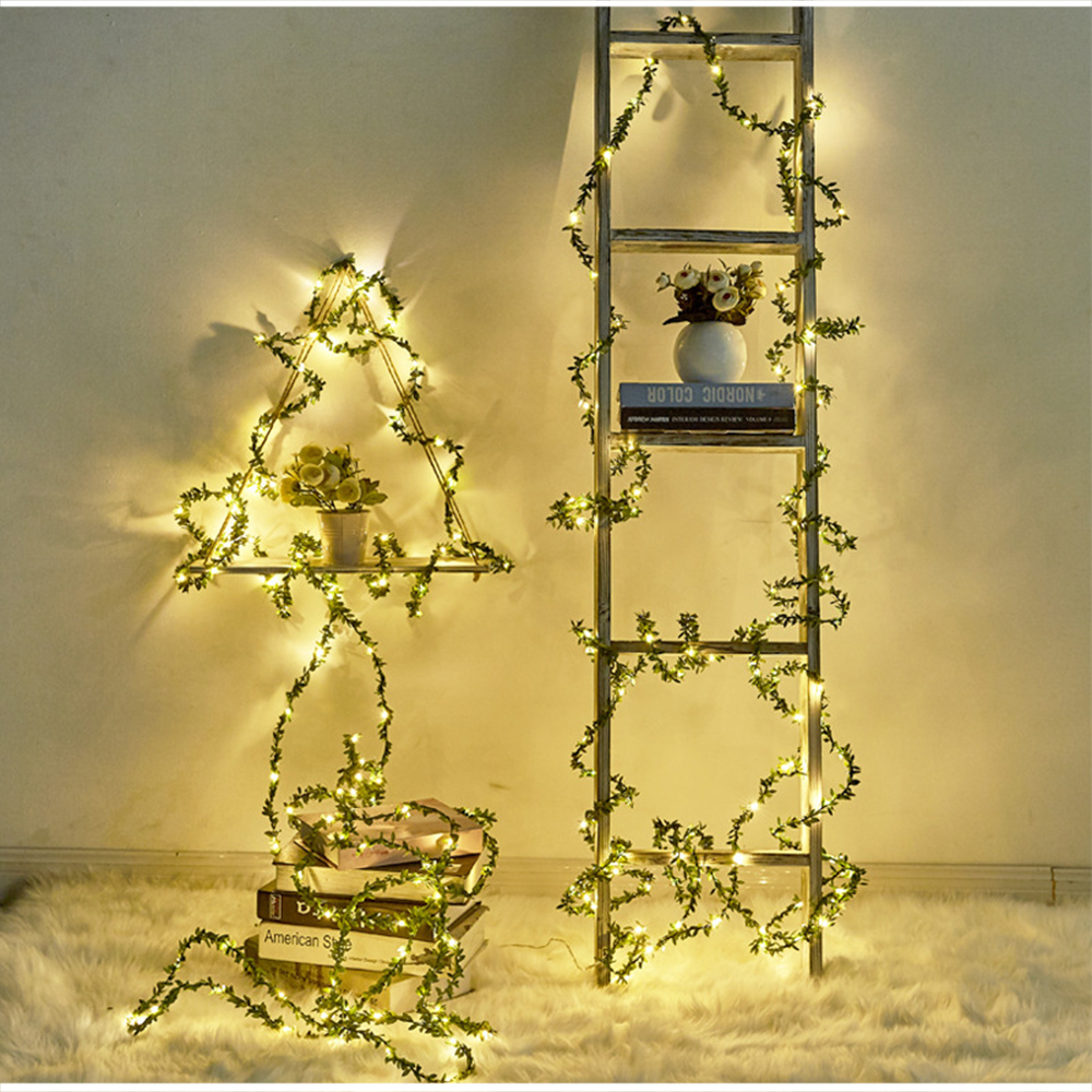 Garland LED Lights Decoration 3M 5M Leaf Twine String Lights Battery Powered For Wedding Party Holiday Christmas Fairy Lights