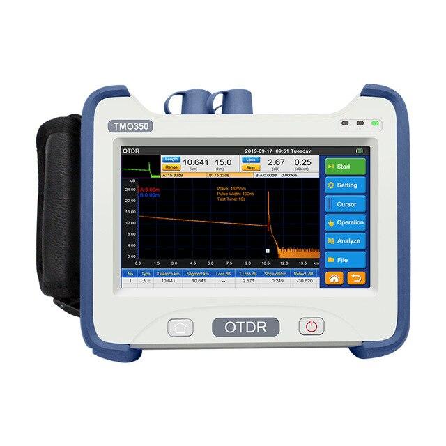 OTDR 850/1300/1310/1490/1550/1625nm réflectomètre à fibres optiques à longueur donde optionnel FTTH avec carte dévénement VFL OPM OLS