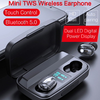 Touch Control TWS buds Bluetooth Earphone Wireless airdot Earbuds with LED Power Disply for Xiaomi redmi samsung Galaxy Phones