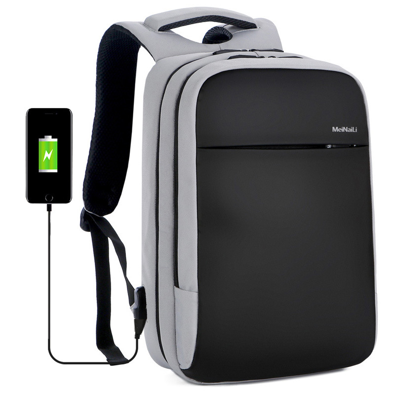 Anti theft backpack USB rechargeable business computer bag waterproof travel backpack for CUHK students