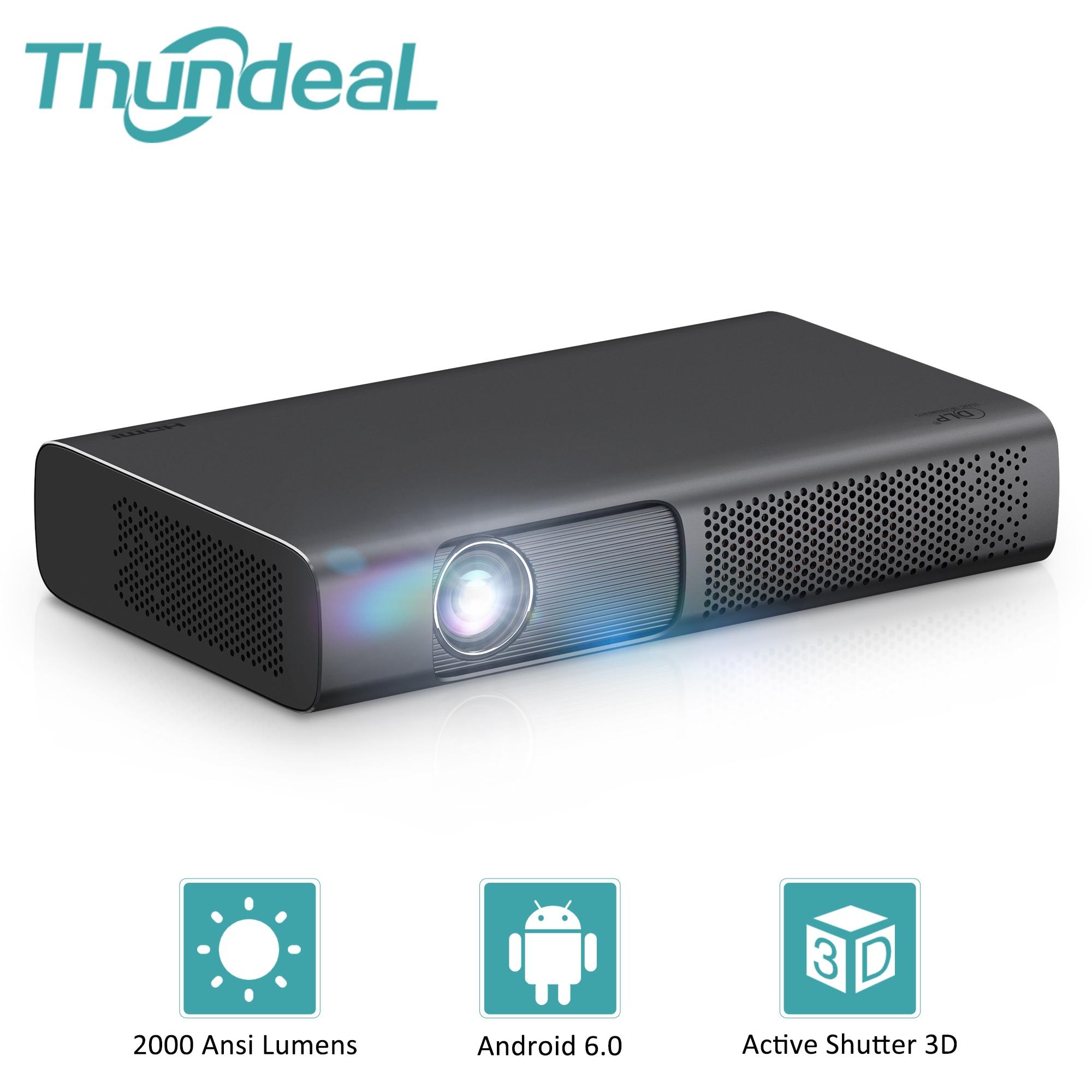 Thundeal новая технология DLP T615 проектор 1200 Ansi мультикубик для смартфона может передать по видео 1080P И 4k Мини проектор для дома с функций WiFi андро...